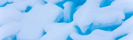 Winter snow and ice - background banner image