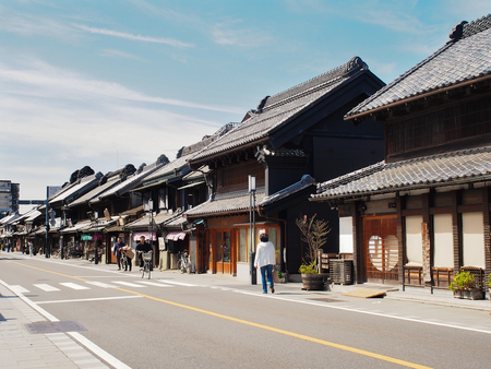 Kawagoe,Japan-April 11,2017, Antique building street in Kawagoe or little edo. Reklamní fotografie - 78040611