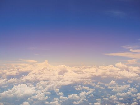 flit: Blue sky and cloud with copy space for background. Stock Photo