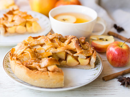 Homemade apple pie  pastry in autumn season,sweet and dessert concept. Stock Photo