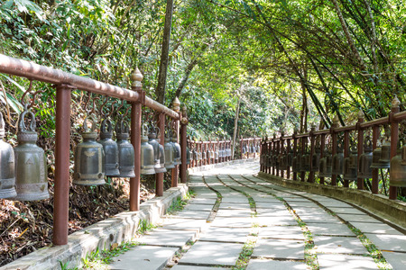 fench: walkway with bell fench Stock Photo