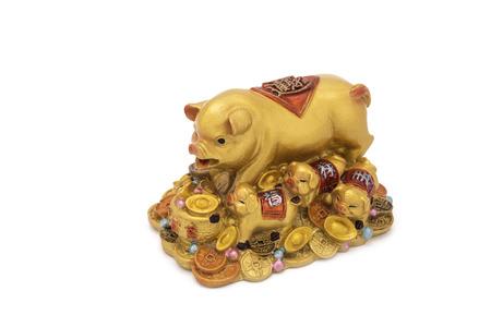 charm: Golden pig on treasure, Charm
