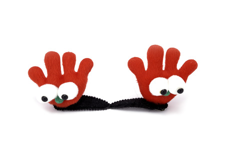 hairband: Finger clip hairband on white background