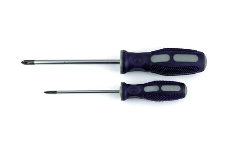 Screw driver on white background