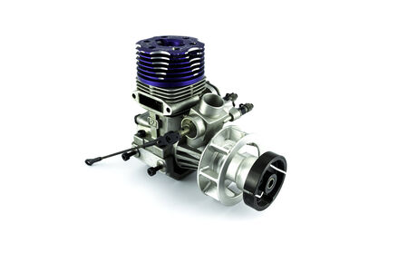heli: Rc helicopter engine on white background