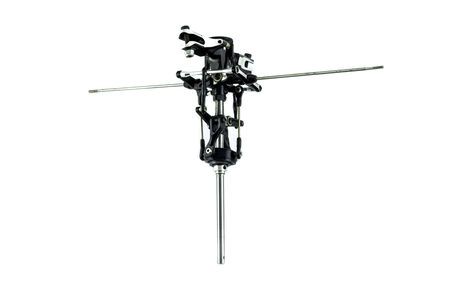 heli: RC helicopter rotor on white background