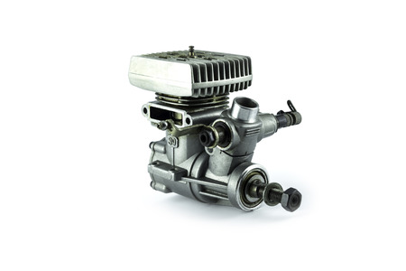 rc: Rc helicopter engine on white background