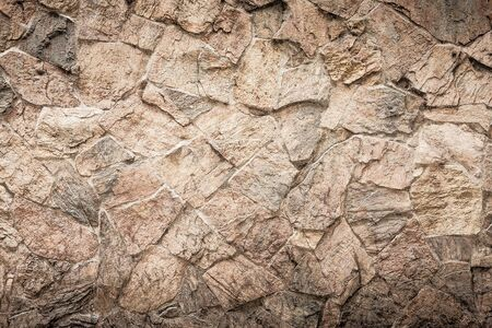 hdr background: Rock wall background HDR process grunge style Stock Photo
