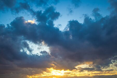 Colorful cloudscape in the evening Stok Fotoğraf - 45231176