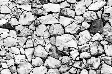 monotone: Stone wall background monotone