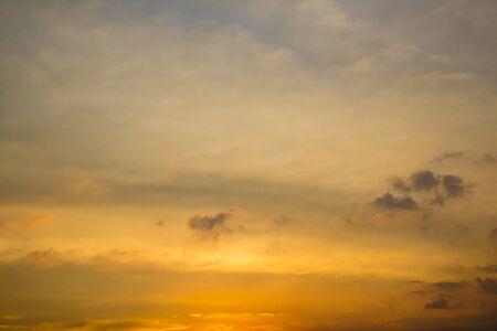 cloudscape: Orange sky cloudscape Stock Photo