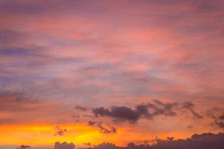 colorful cloudscape: Colorful cloudscape in evening Stock Photo