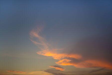 colorful cloudscape: Colorful cloudscape over sky twilight time Stock Photo