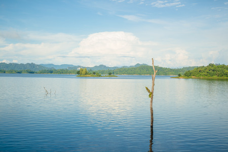Morning fresh lake and blue shy Stok Fotoğraf - 101857648