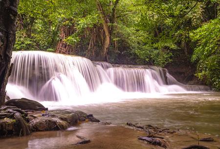 Huay Mae Kamin waterfall, Thailand Stok Fotoğraf
