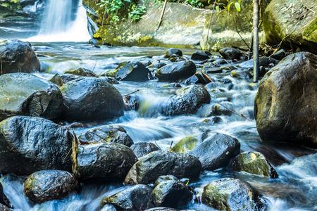 Little waterfall in the jungle Stok Fotoğraf - 101857176
