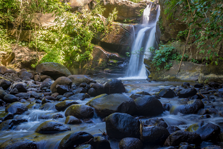 Little waterfall in the jungle