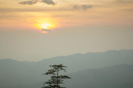 Fresh morning over mountain Stok Fotoğraf