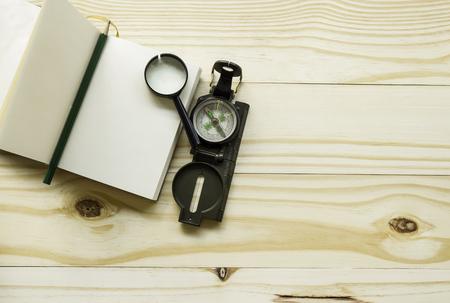 Travel note on wood background Stok Fotoğraf