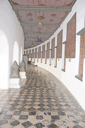 Abstract indoor walkway drawing effect