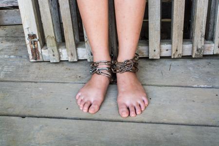 interpreter: Child was gets foot interpreter by the chains
