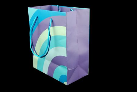 brightly colored paper shopping bag Stock Photo