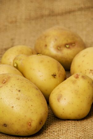 king edward: king edward potatoes Stock Photo