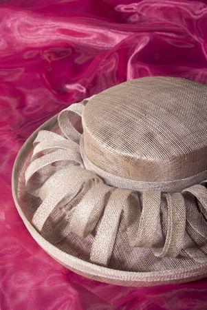 beige ladies formal dress hat