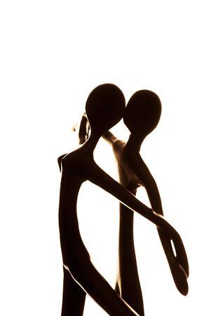 abstract paar dancing