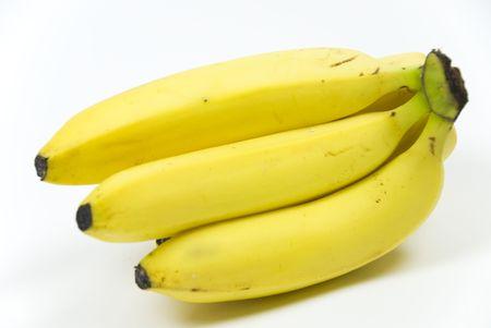 bos van zes rijp klaar om te eten biologische bananen