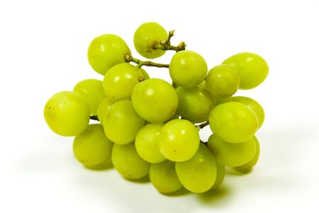 large bunch of ripe green juicy seedless grapes photo
