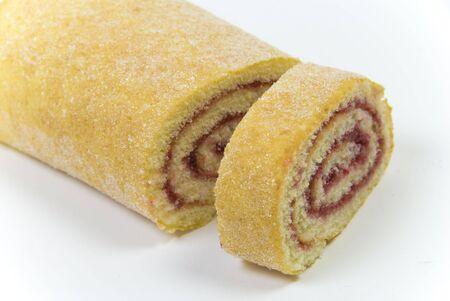 home gebakken Swiss roll taart geschikt voor een pudding