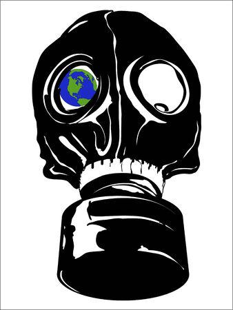 gas masker voor een zieke wereld