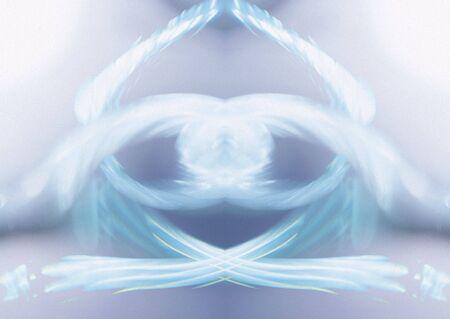 blue white en Lila symmetrische wervelende abstracte achtergrond