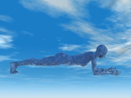 vrouw uitvoeren dolfijn plank yoga pose