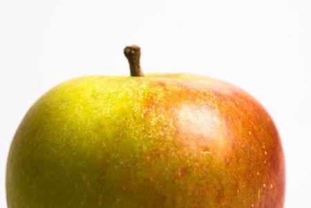 een Engels apple op een witte achtergrondkleur Stockfoto