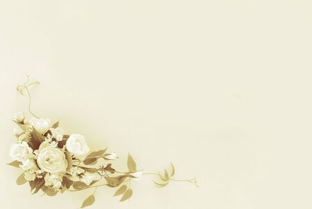 flower arrangement on a faded sepia background