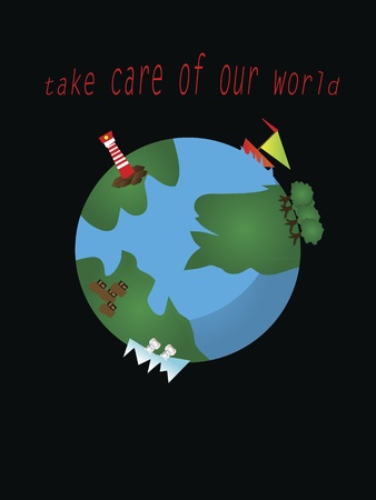 look after: look after the planet