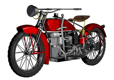1924 ace red motorbike Stock Photo