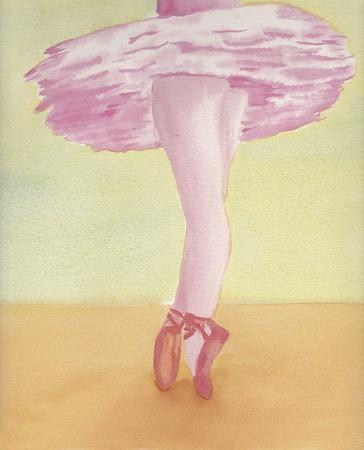 hand geschilderd aquarel van ballerina Stockfoto