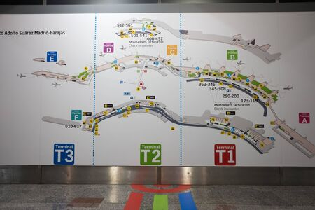 map of madrid airport showing terminal directions
