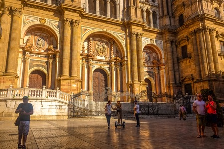 Cathedral Square in Malaga, andalucia, southern Spain