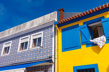 Traditional house facade in Aveiro, Portugal Stock Photo