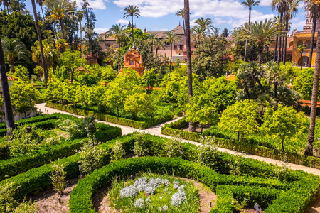 Real Alcazar Gardens in Seville Andalucia Spain
