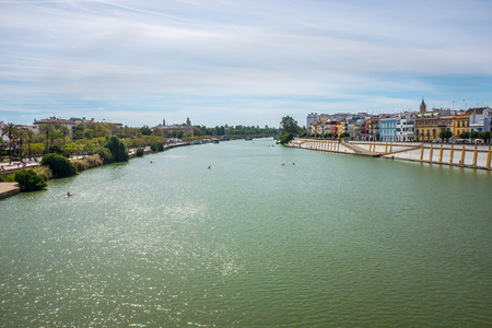 View of Guadalquivir river in Seville, Spain
