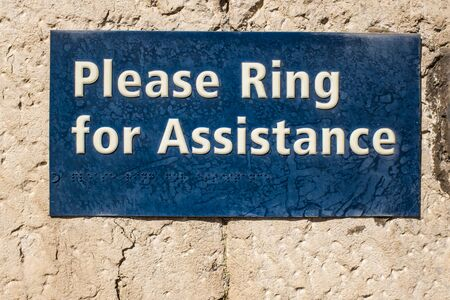 Blue ring for assistance in Kendal Cumbria UK