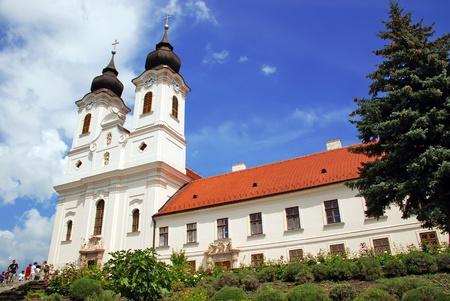 View of Tihany abbey on a sunny day - Balaton Lake - Hungary