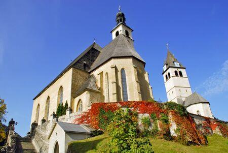 View or Parish Church and Church or our Lady - Kitzbuhel Austria