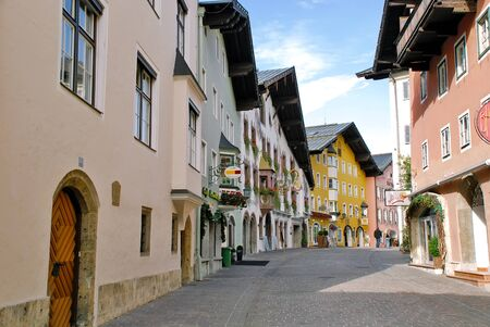 the center of the city: Kitzbuhel centro de la ciudad calles - Austria Foto de archivo