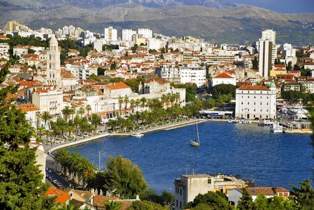 View of Split coast from Marian hill - Croatia